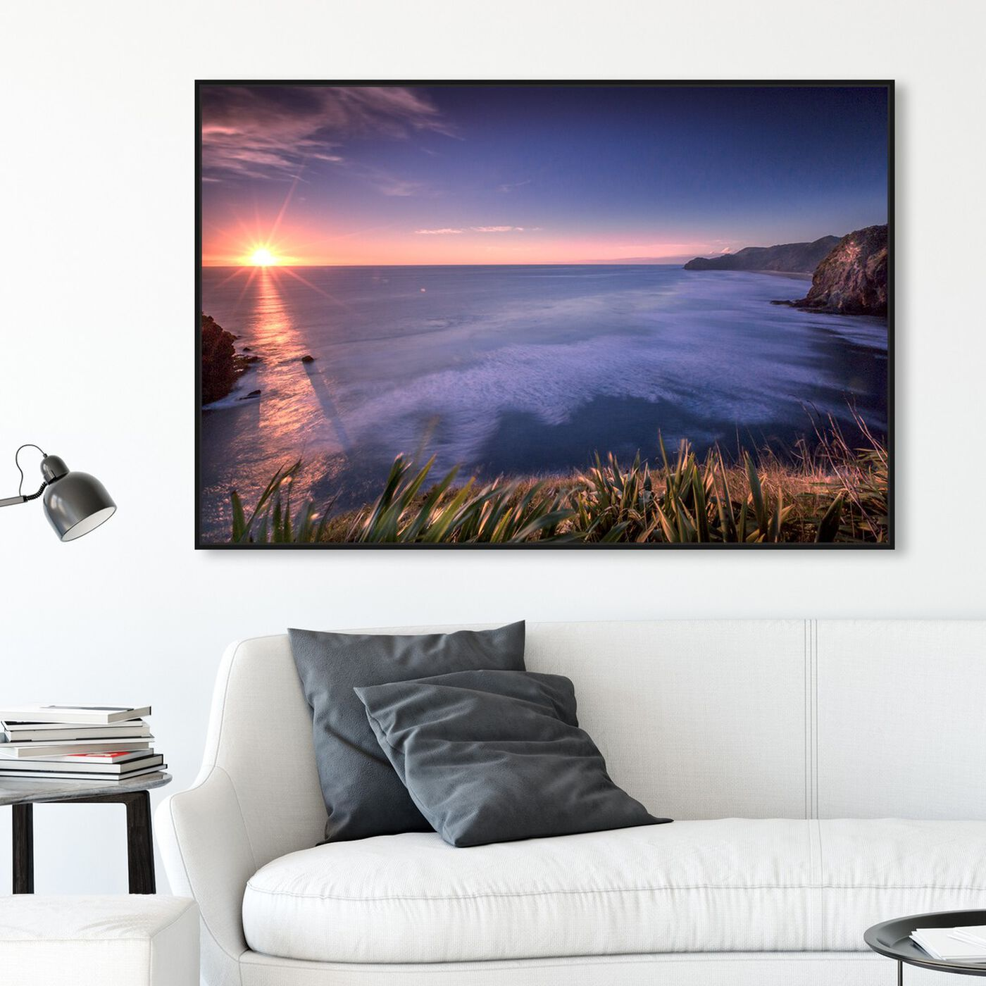 Hanging view of Curro Cardenal - Misty featuring nautical and coastal and coastal landscapes art.