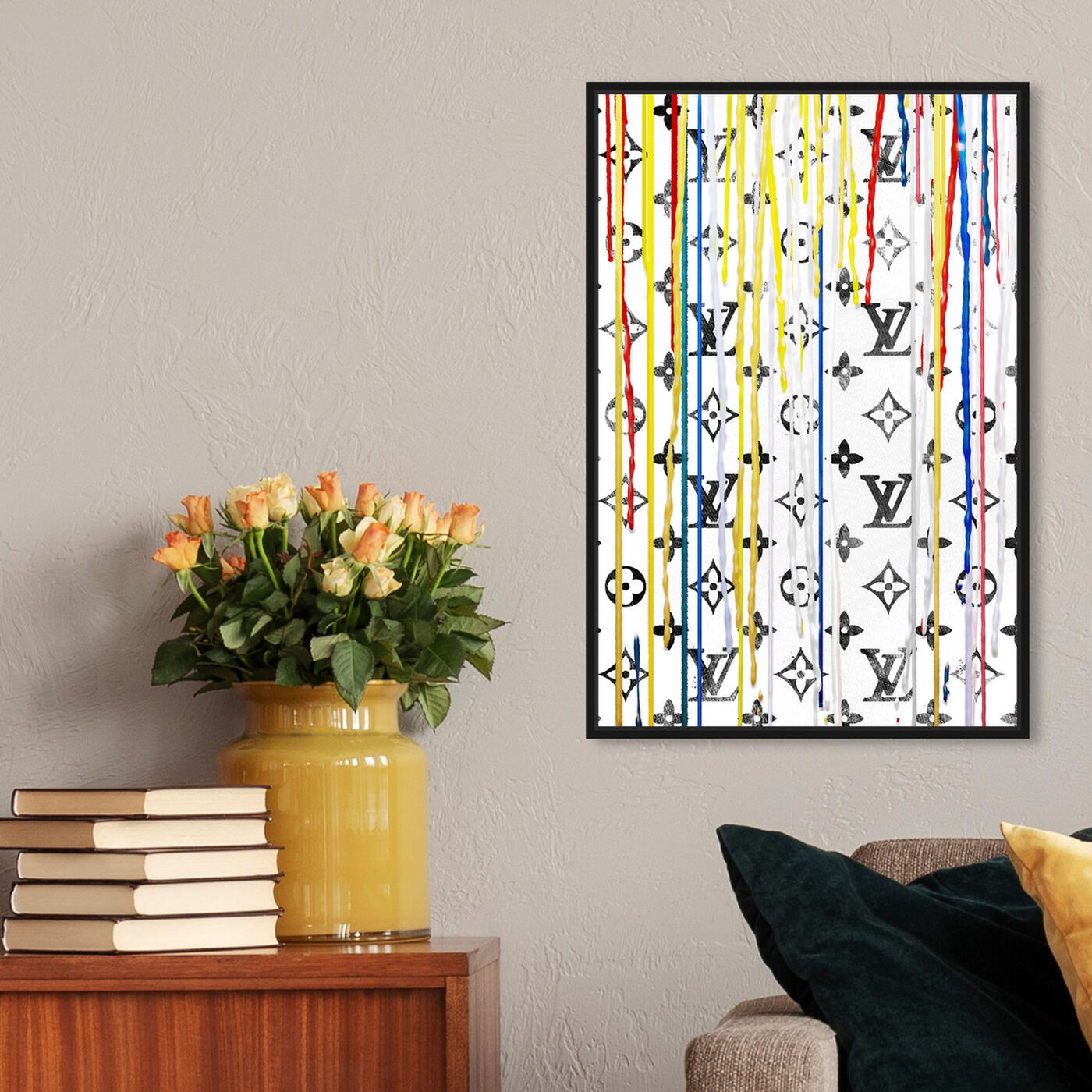 Hanging view of Pop Art Drip of Luxury featuring abstract and paint art.