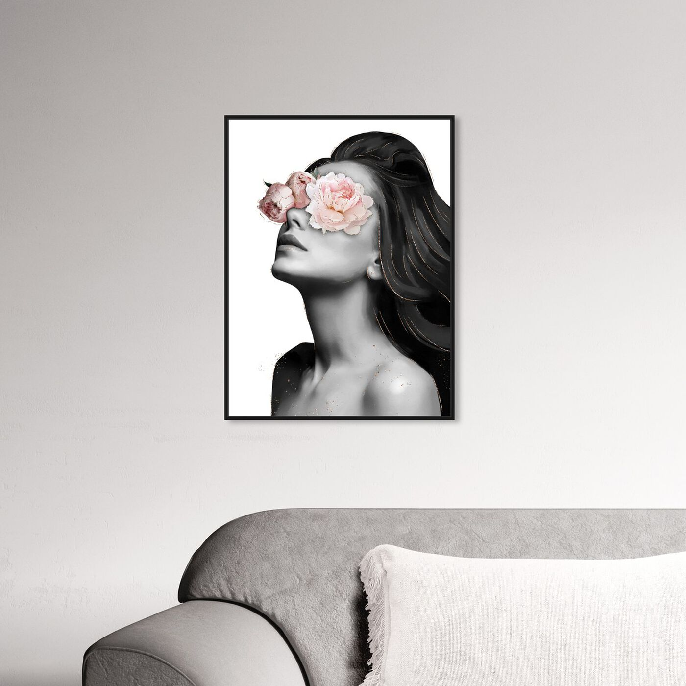 Hanging view of Floral Beauty VI featuring floral and botanical and florals art.