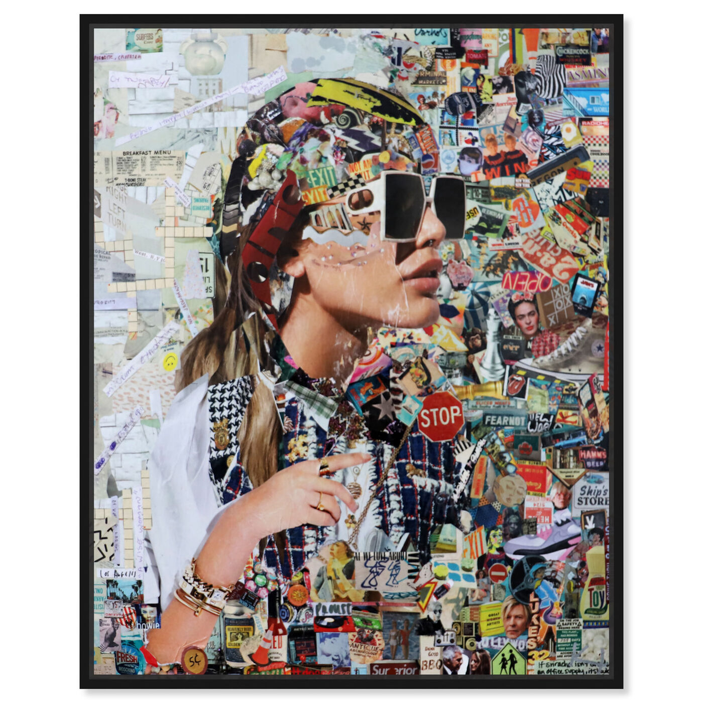 Front view of Katy Hirschfeld - Midtown Shades featuring fashion and glam and portraits art.