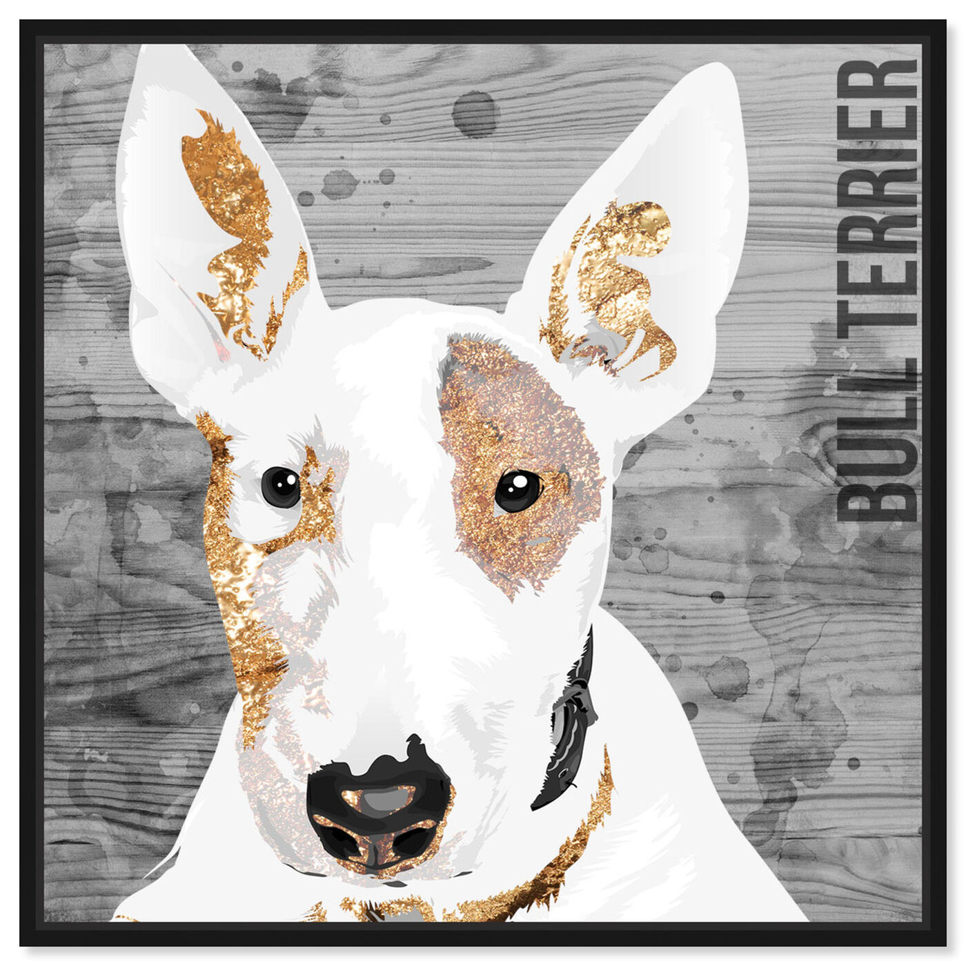 Front view of Love My Bull Terrier featuring animals and dogs and puppies art.