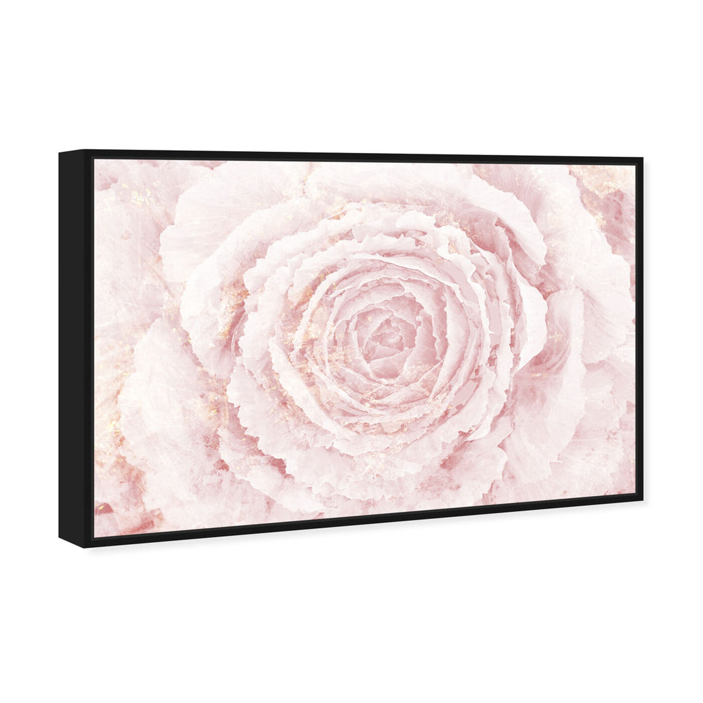 Angled view of Blush Winter Flower Pink featuring floral and botanical and florals art.