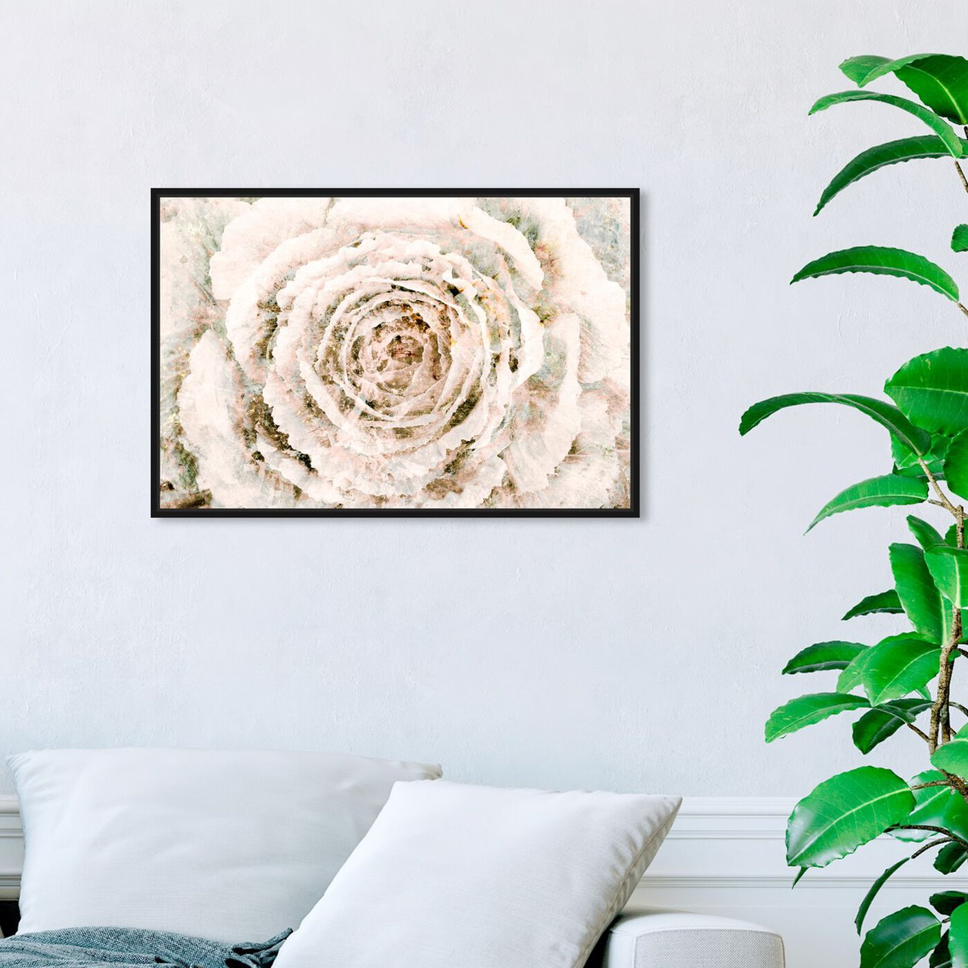 Hanging view of Brown Winter Flower featuring floral and botanical and florals art.