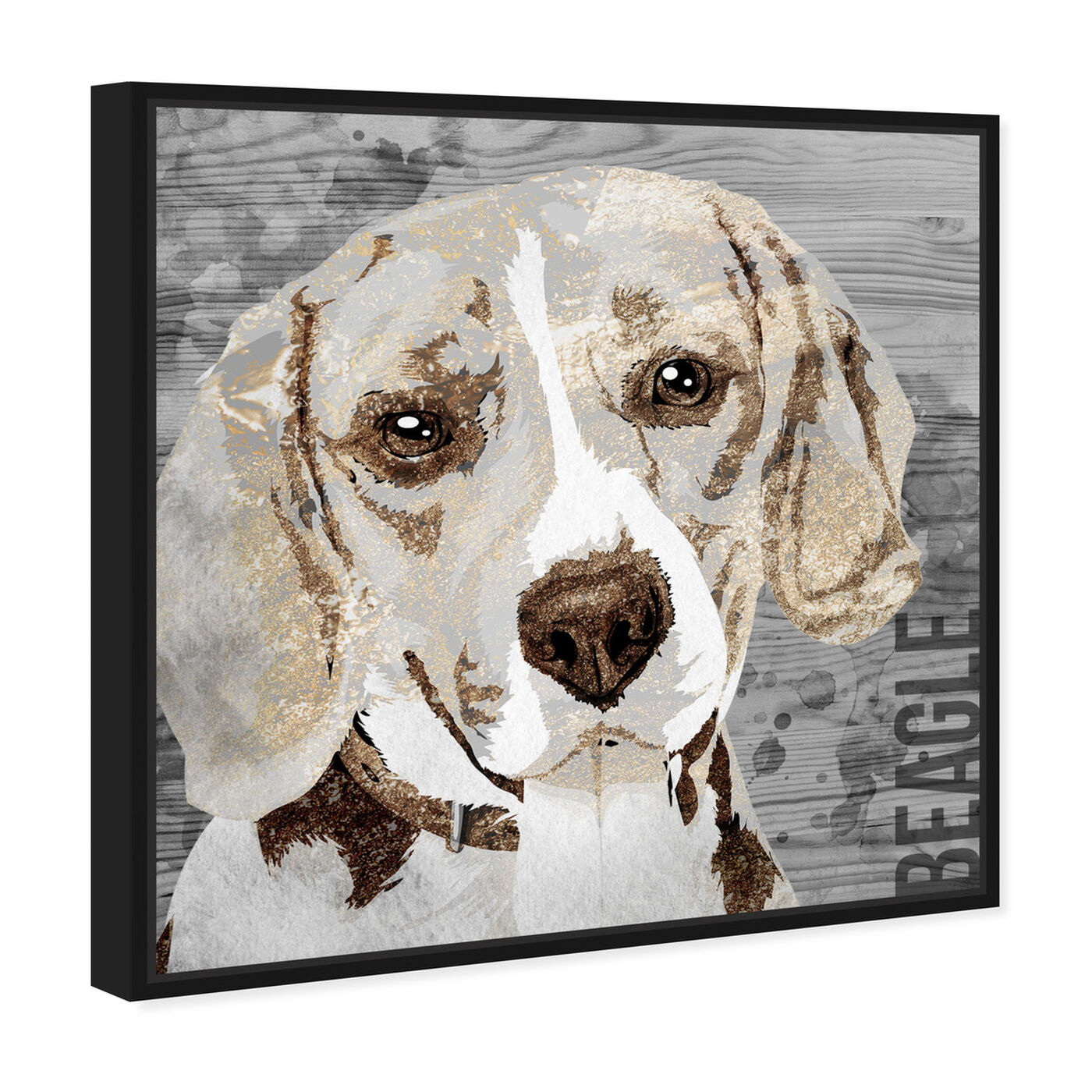 Angled view of Love My Beagle featuring animals and dogs and puppies art.