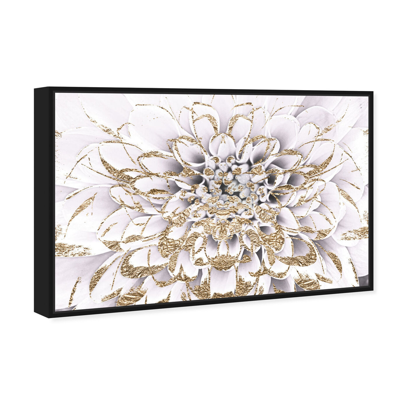 Angled view of Floralia Blanc featuring floral and botanical and florals art.