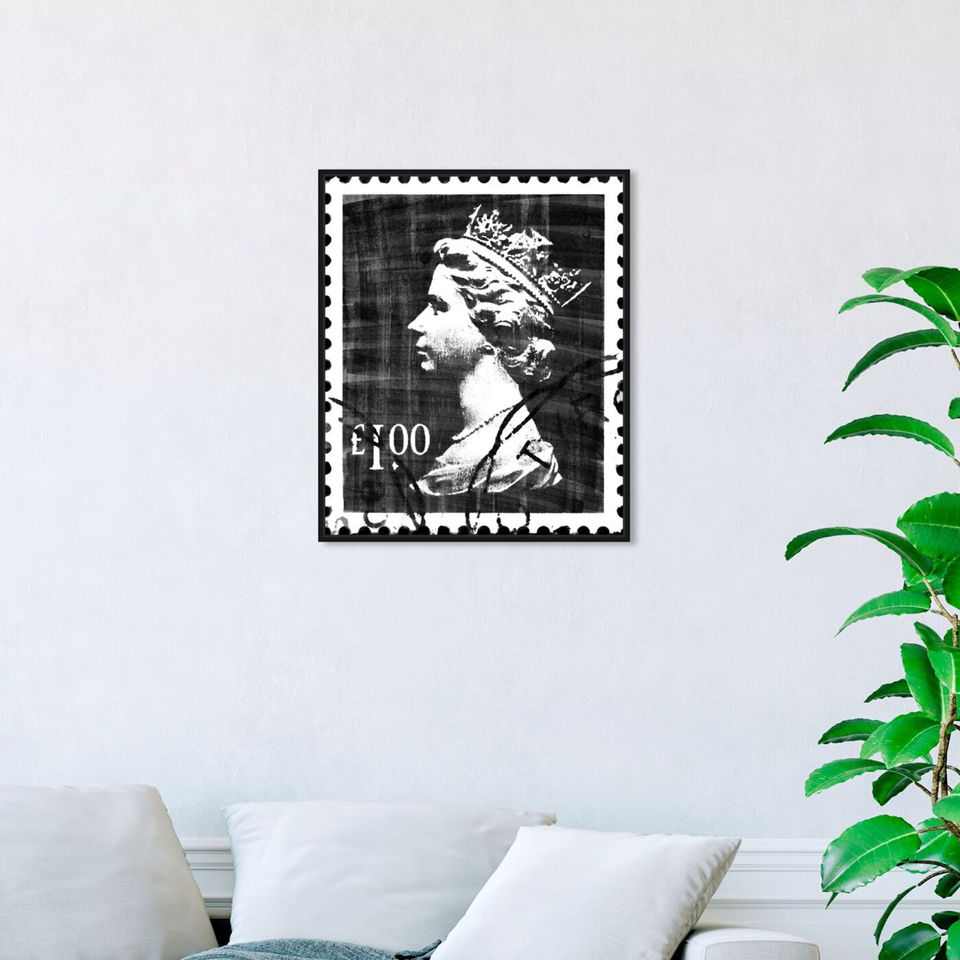 Hanging view of Save The Queen Two featuring advertising and posters art.