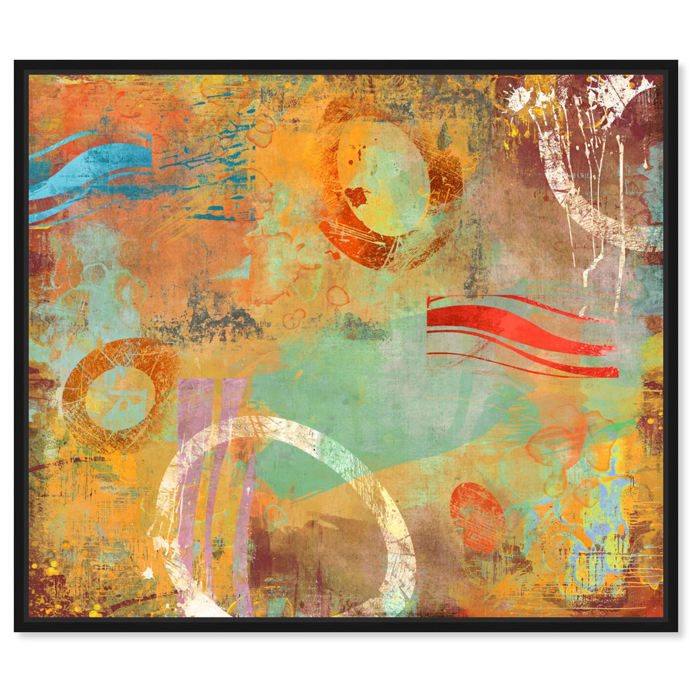 Front view of SAI - Abstract Postcard featuring abstract and paint art.