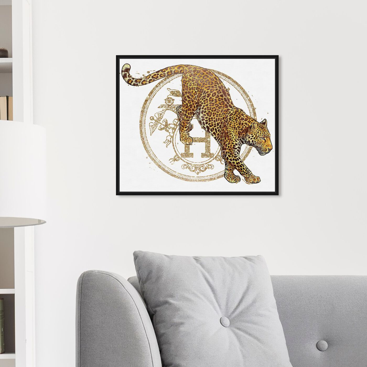 Hanging view of French Jaguar Pounce featuring fashion and glam and fashion lifestyle art.