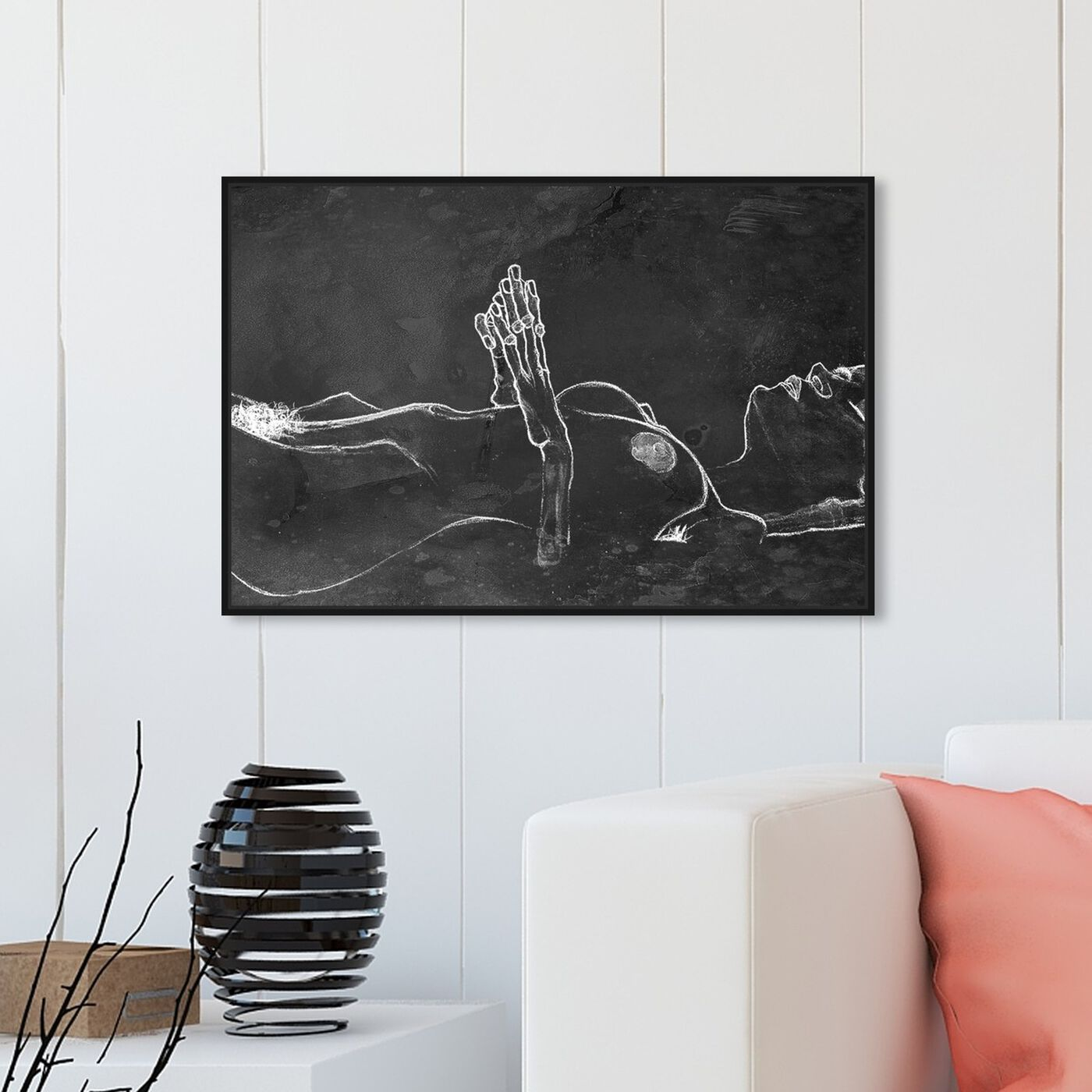 Hanging view of Schiele Nude Chalk featuring classic and figurative and nudes art.
