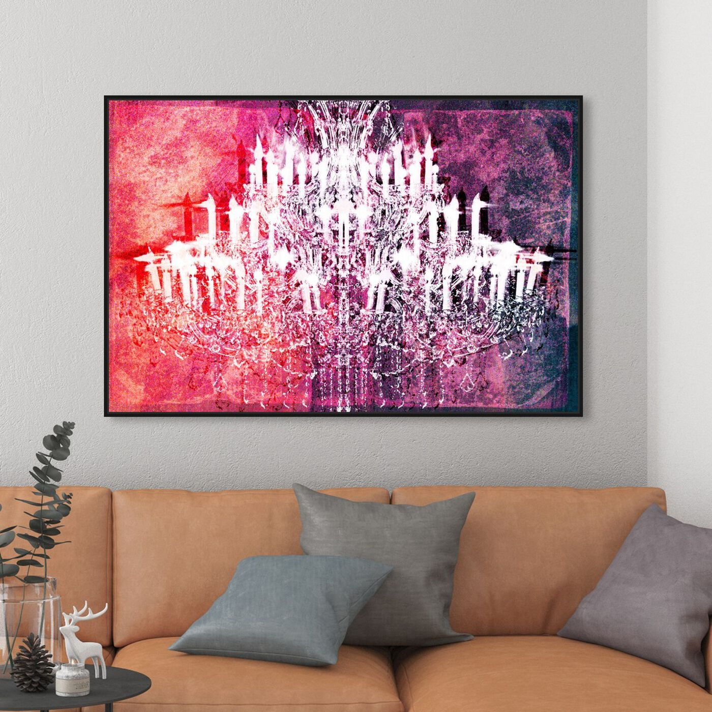 Hanging view of Ethereal Vision Reversed featuring fashion and glam and chandeliers art.