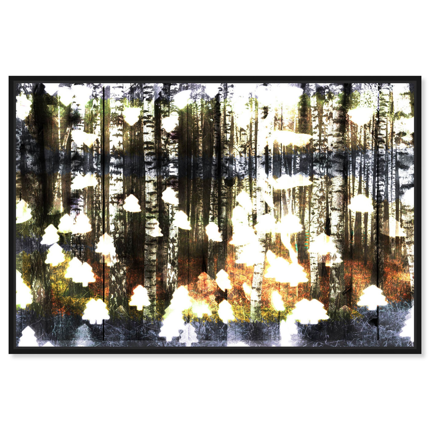 Front view of Birch Land featuring nature and landscape and forest landscapes art.