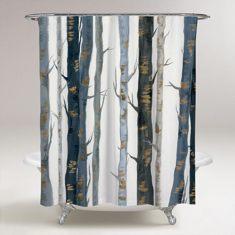 Behind the Woods Shower Curtain