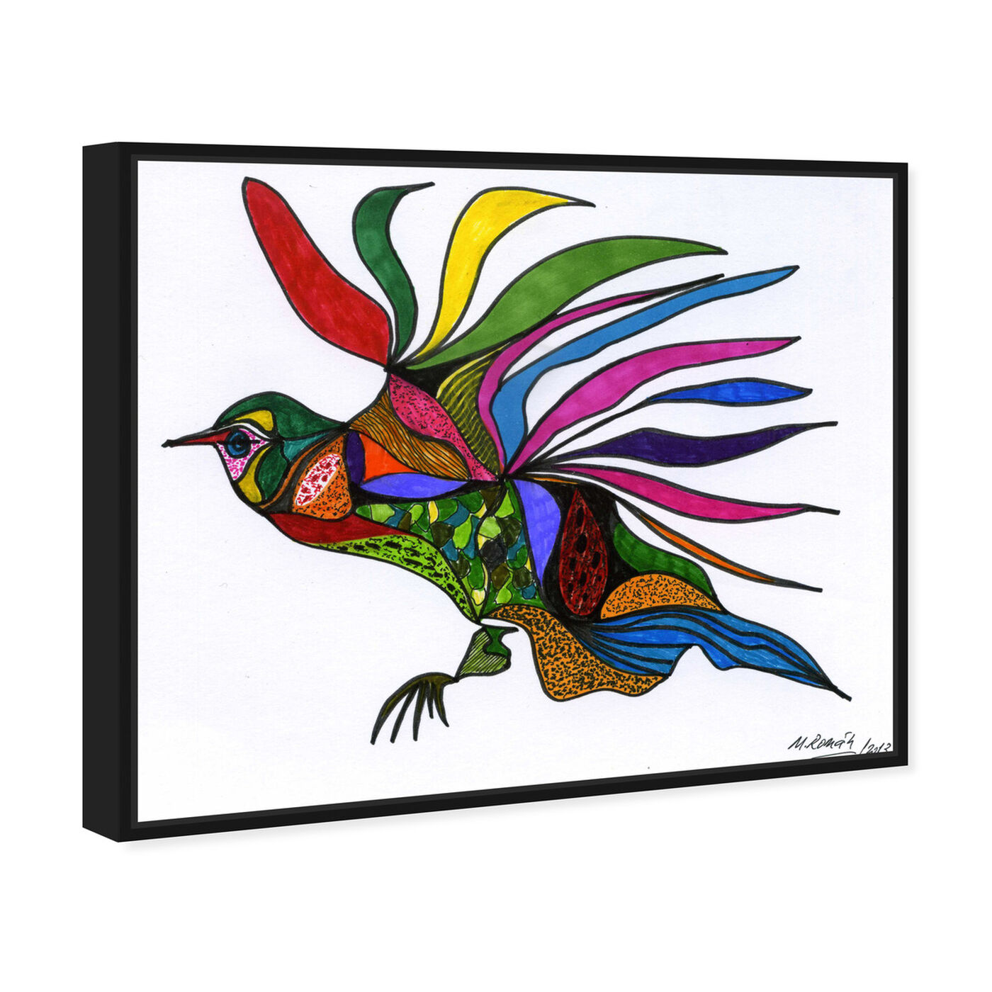 Angled view of Bird of Paradise featuring animals and birds art.