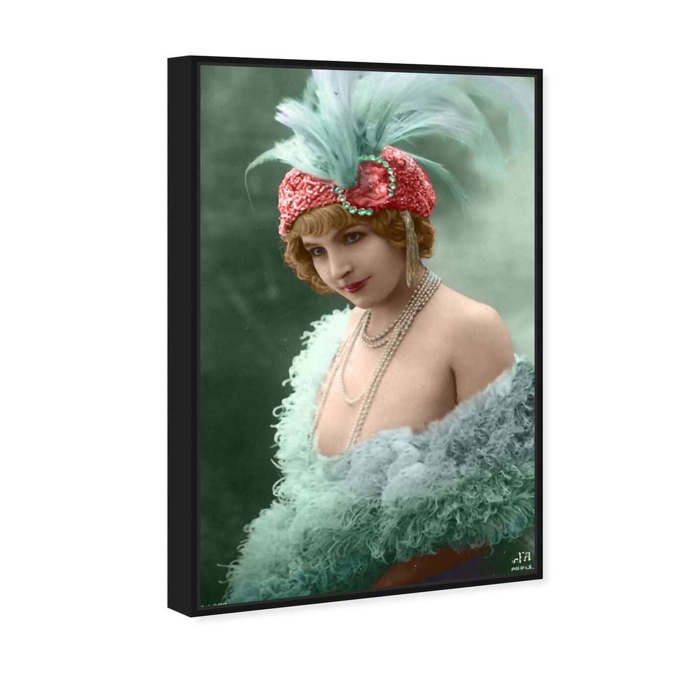 Angled view of Vintage Dancer featuring classic and figurative and classical figures art.