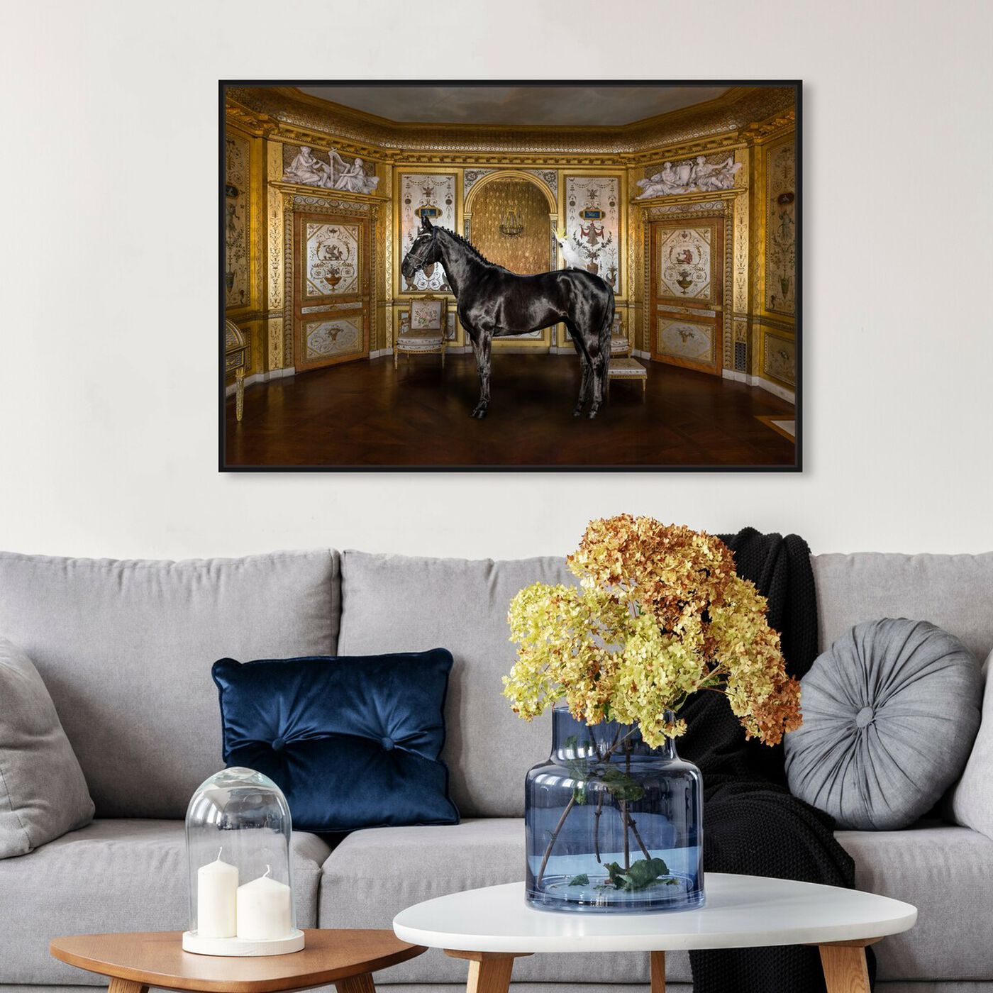 Hanging view of Unusual Couple featuring animals and farm animals art.