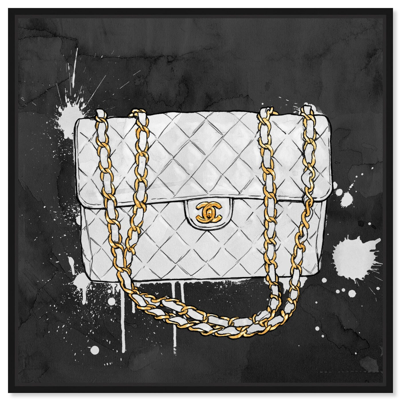 Front view of Everything But My White Bag featuring fashion and glam and handbags art.