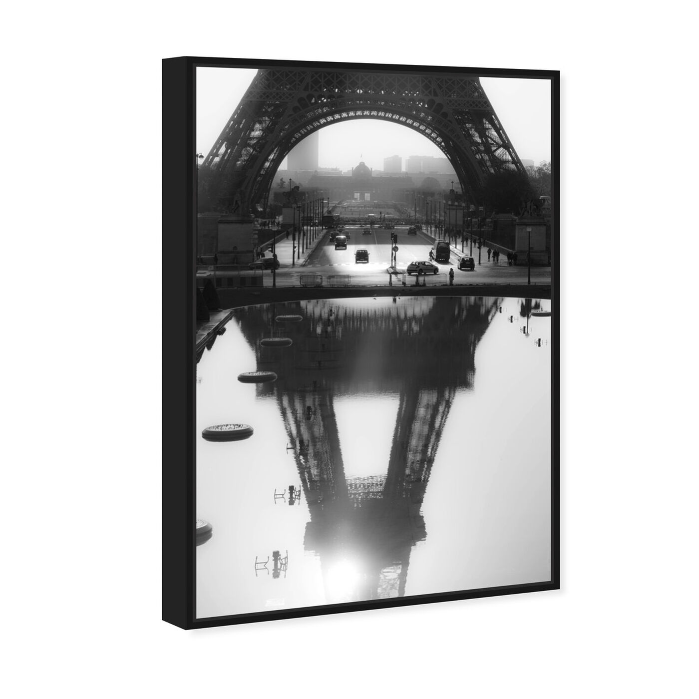 Angled view of Sai - Paris Reflections featuring cities and skylines and european cities art.