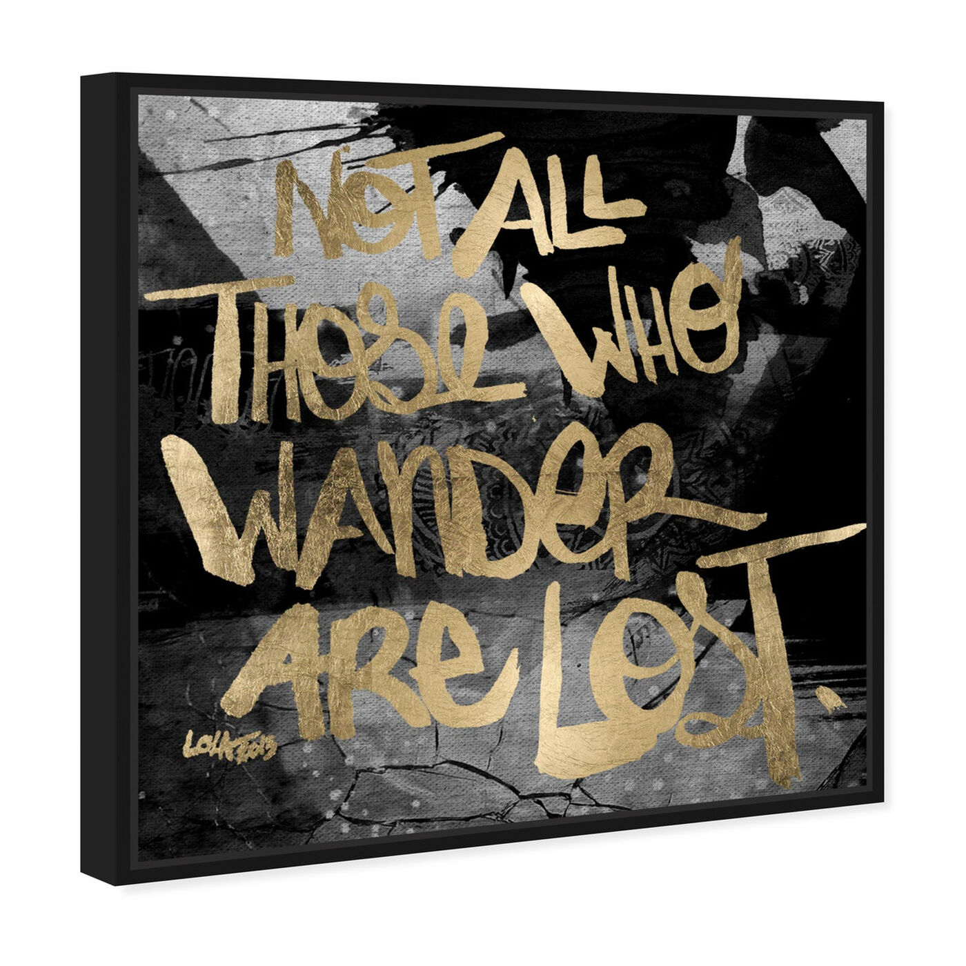 Angled view of Not Lost featuring typography and quotes and inspirational quotes and sayings art.