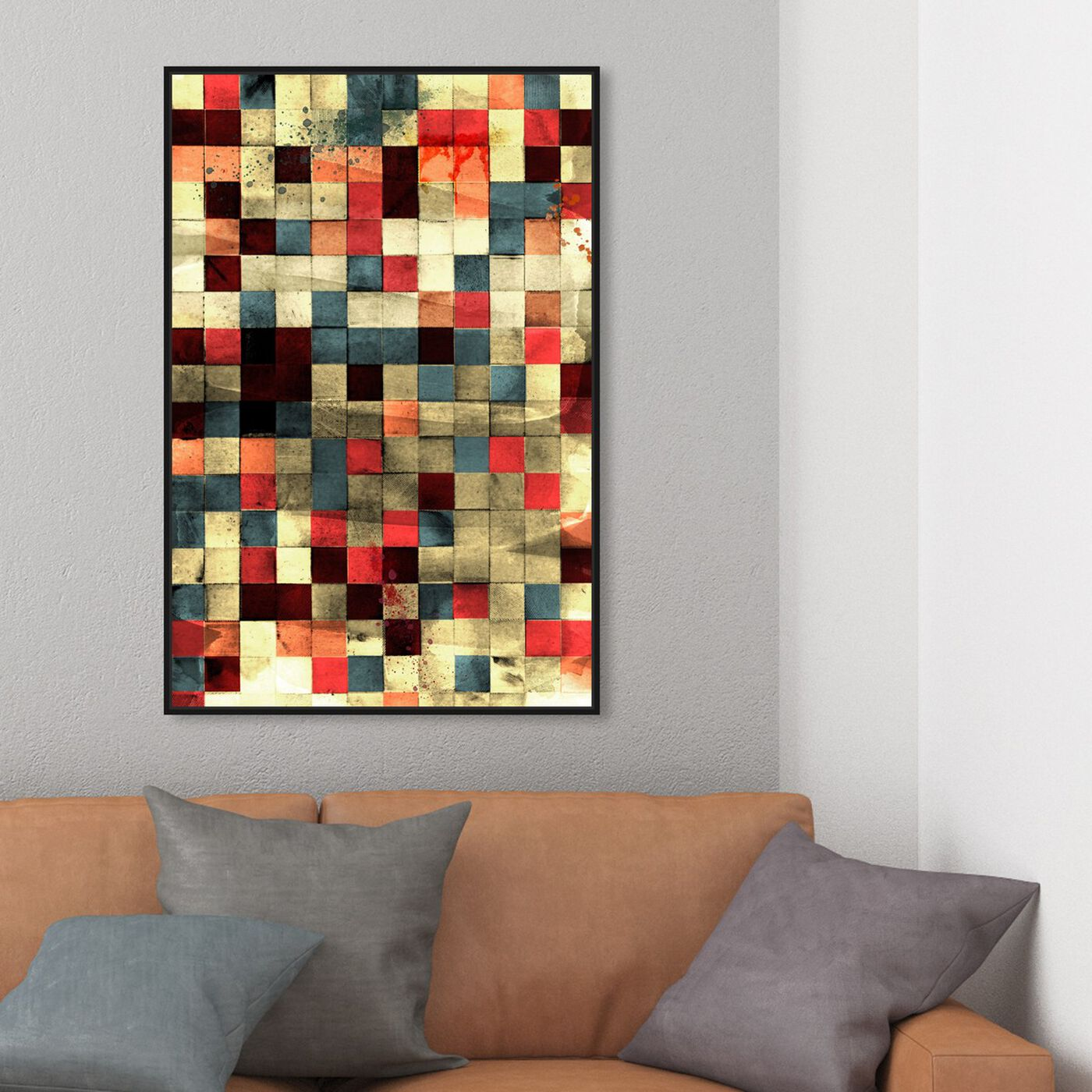 Hanging view of Mosaic featuring abstract and patterns art.