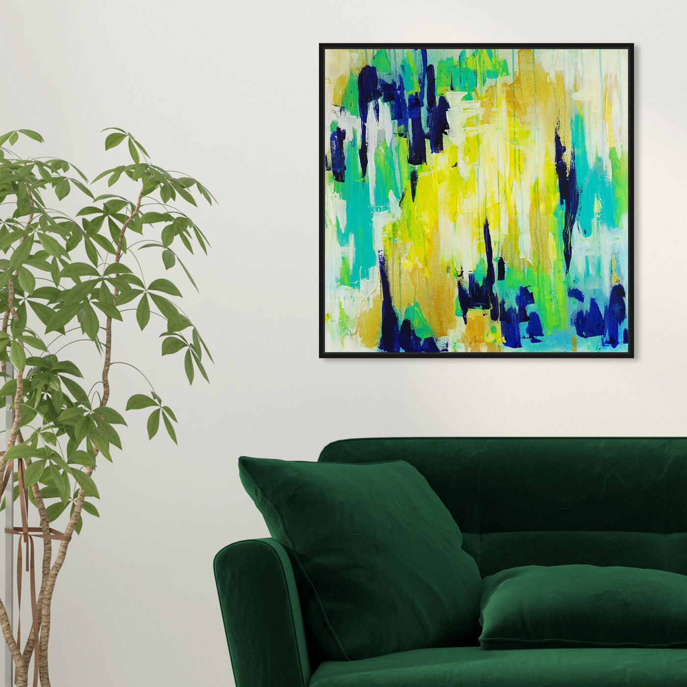 Hanging view of Marissa Anderson-Green Swan Lake featuring abstract and paint art.