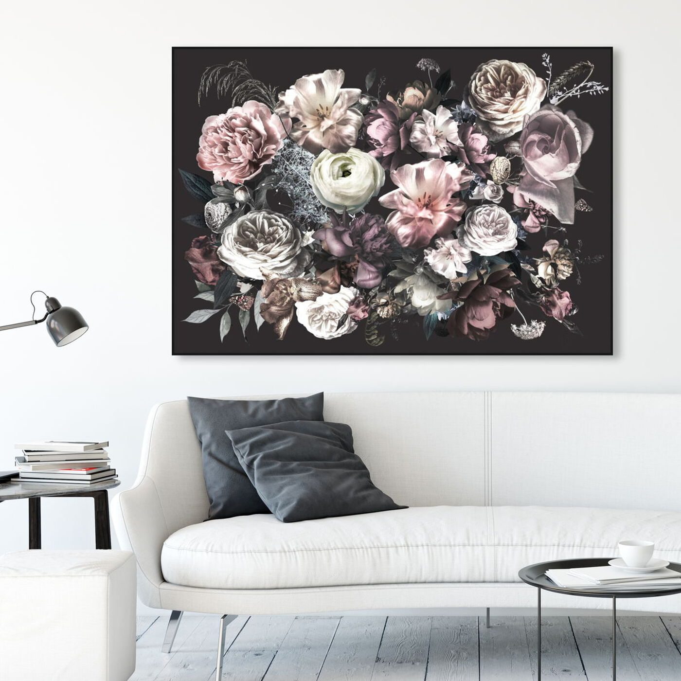 Hanging view of Elizabeth Grace Flowers featuring floral and botanical and florals art.
