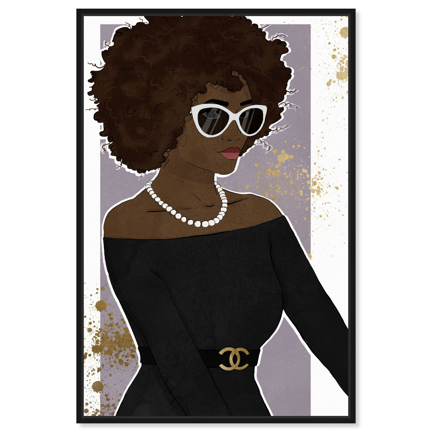 Front view of Poised Lovely Woman featuring fashion and glam and accessories art.