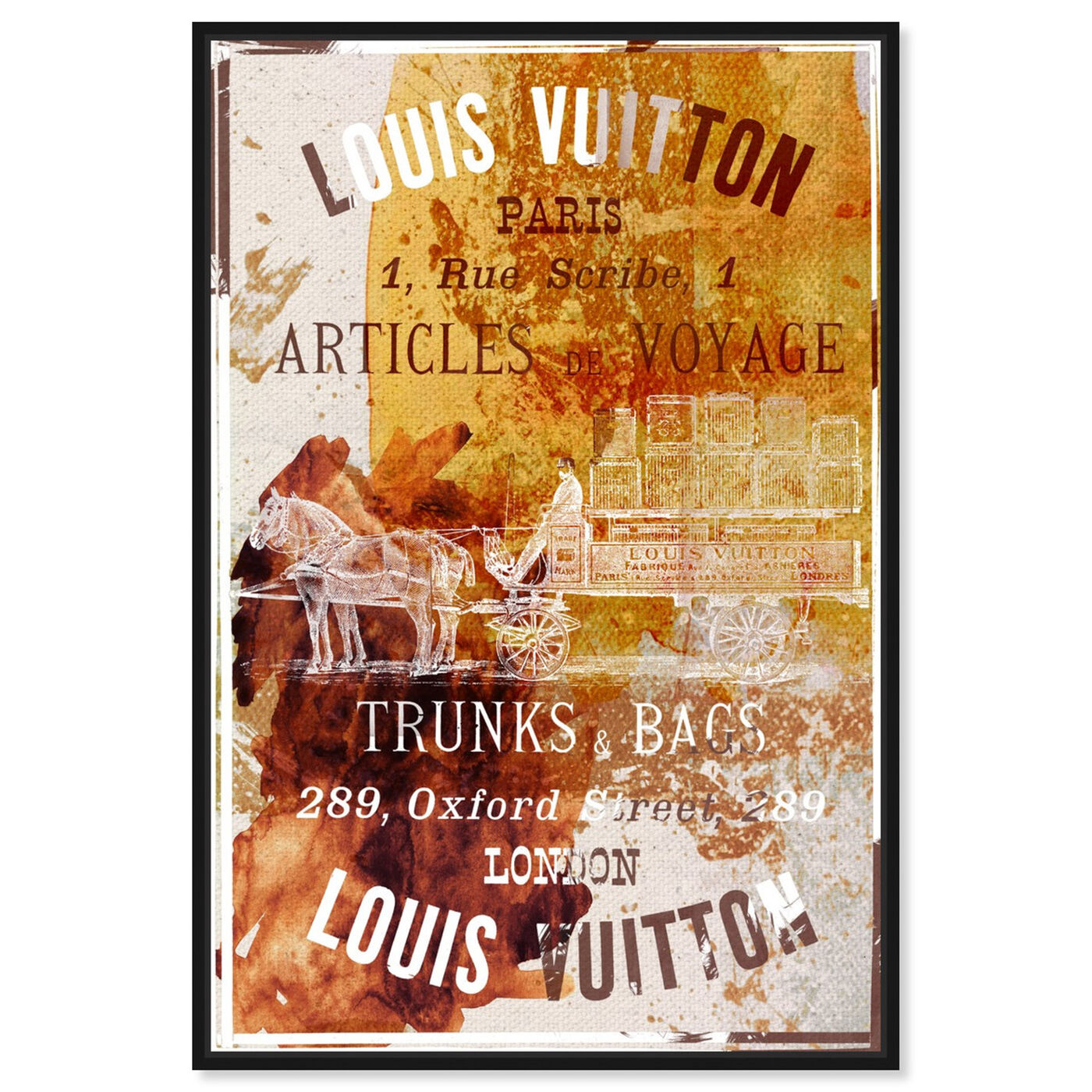 Front view of Articles de Voyage featuring fashion and glam and road signs art.