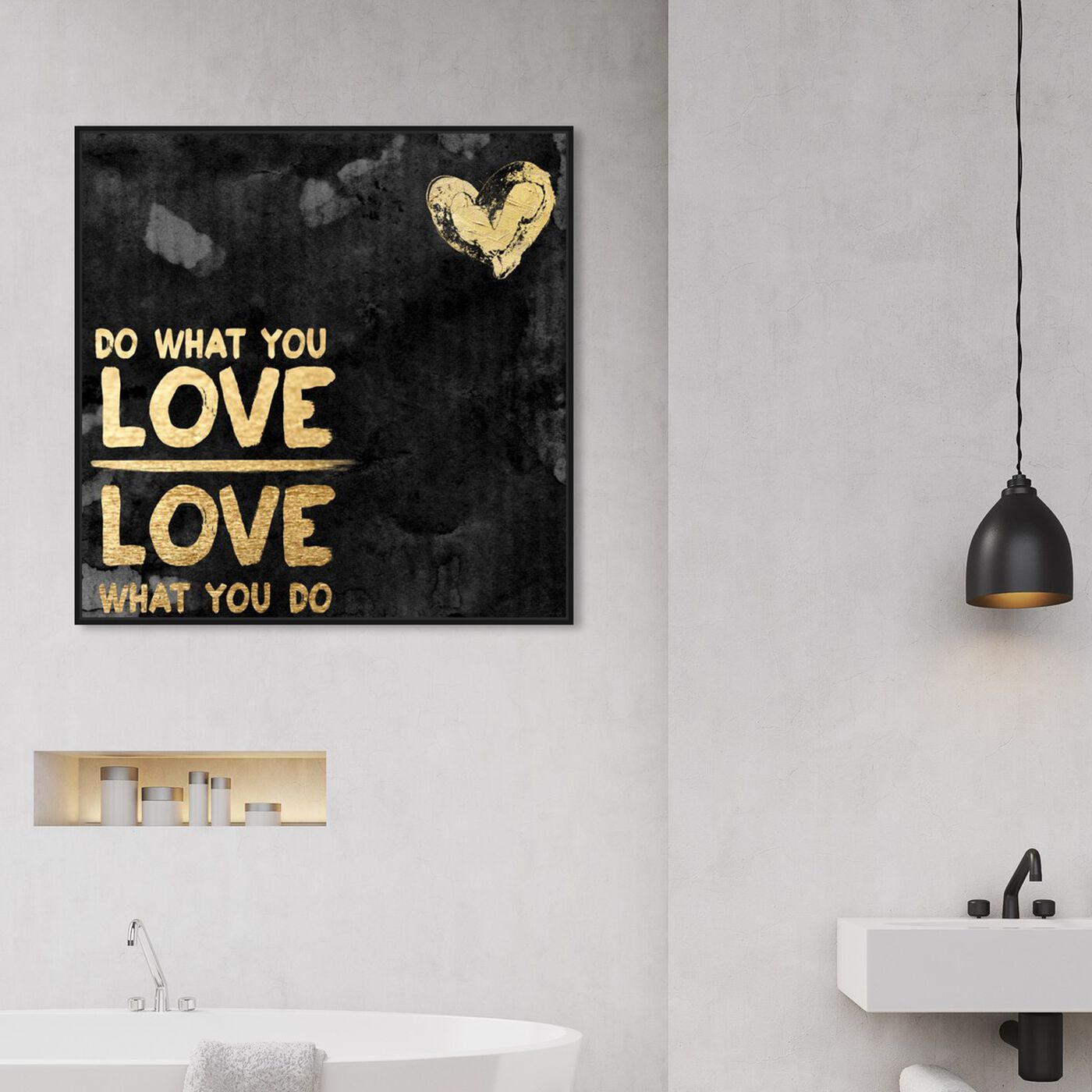 Hanging view of Do What You Love II featuring typography and quotes and love quotes and sayings art.