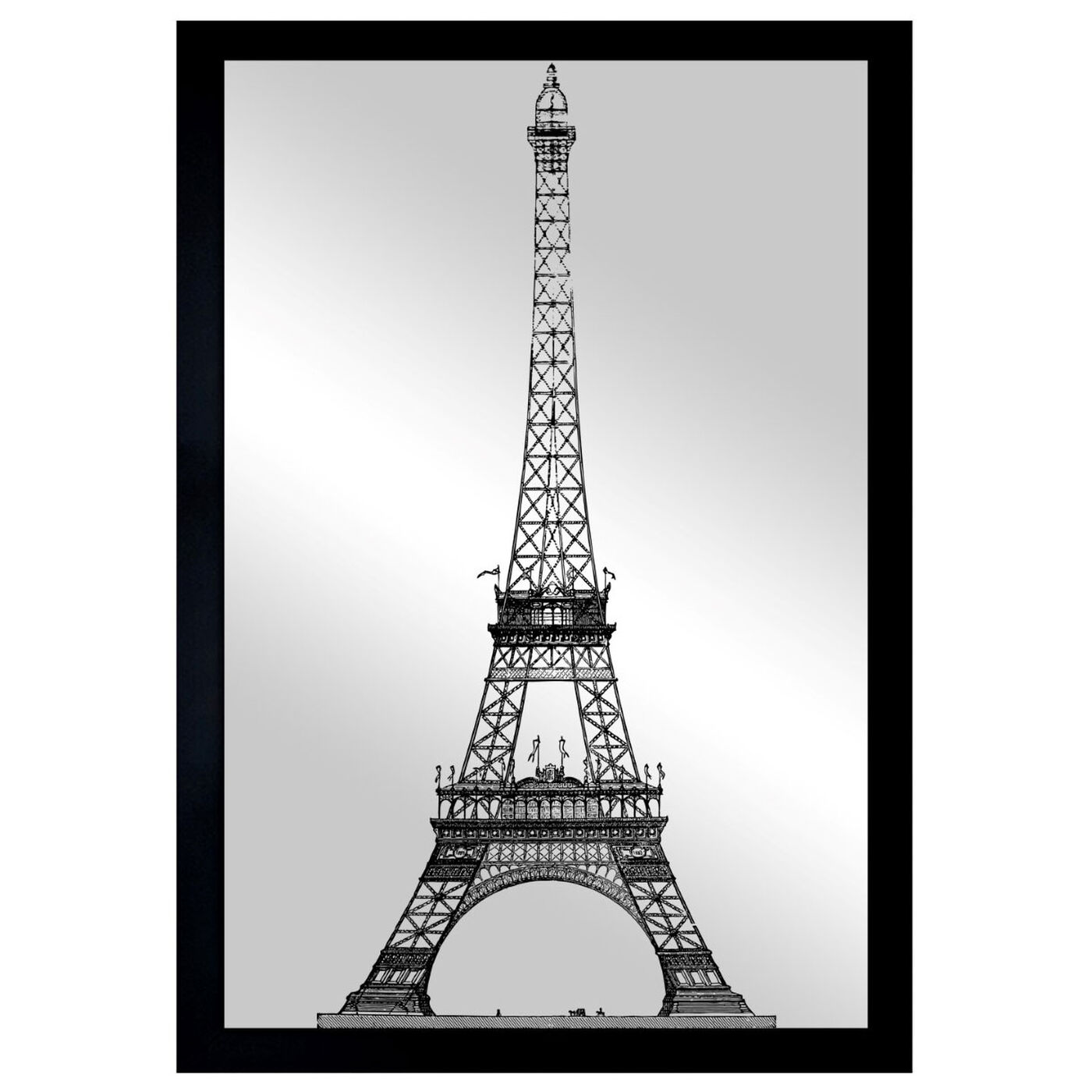 Front view of Moin Eiffel Gold featuring architecture and buildings and european buildings art.