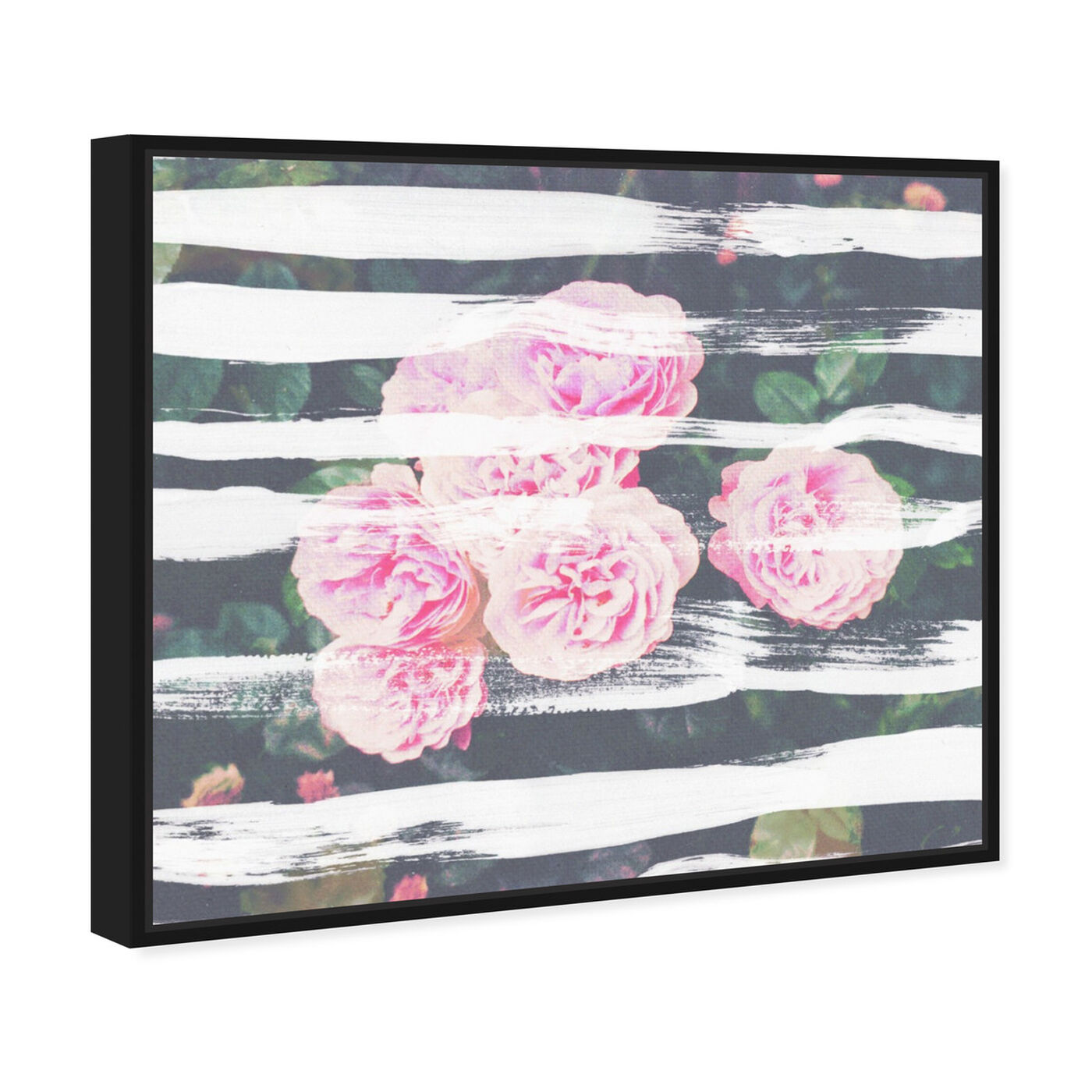 Angled view of Blooming Strokes featuring floral and botanical and florals art.