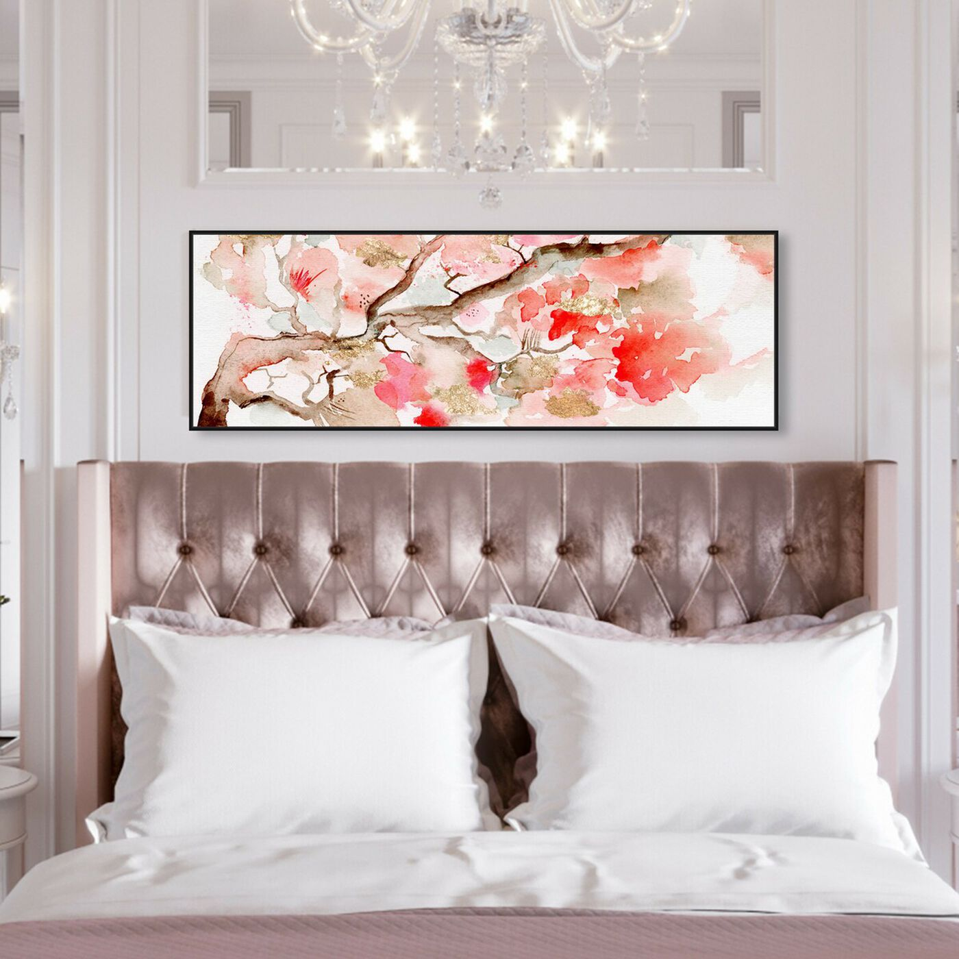 Hanging view of Under the Blossom Tree featuring world and countries and asian cultures art.
