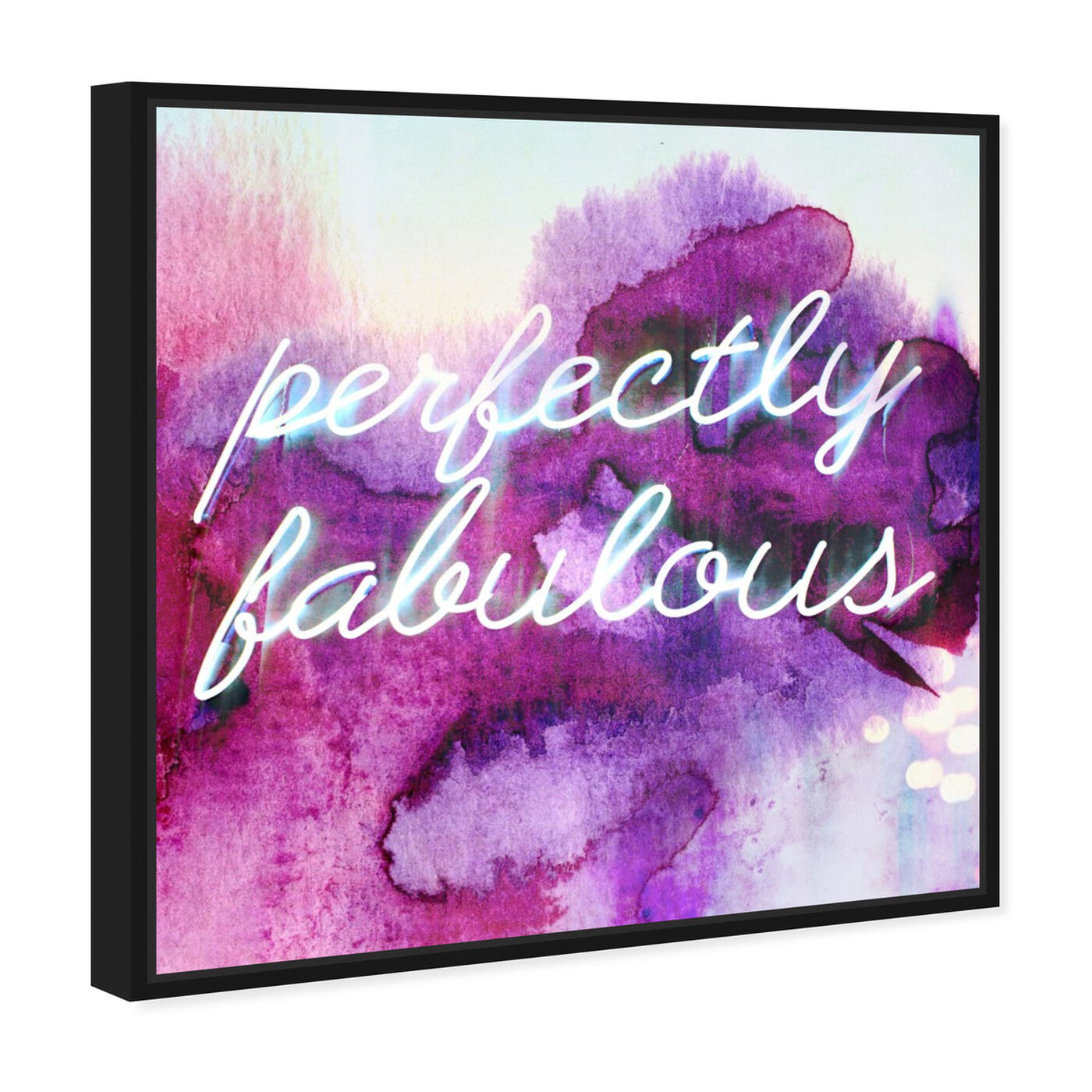 Angled view of Perfectly Fabulous featuring typography and quotes and beauty quotes and sayings art.