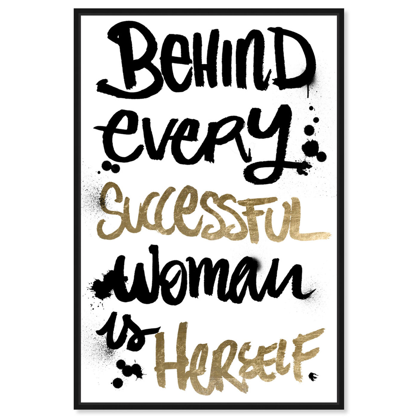 Front view of Successful Woman featuring typography and quotes and empowered women quotes and sayings art.