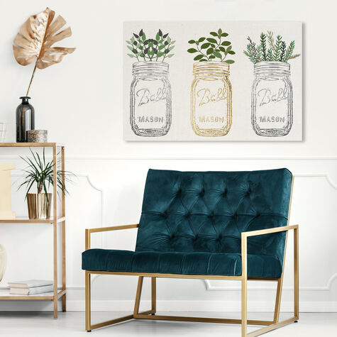 Mason Jars and Plants