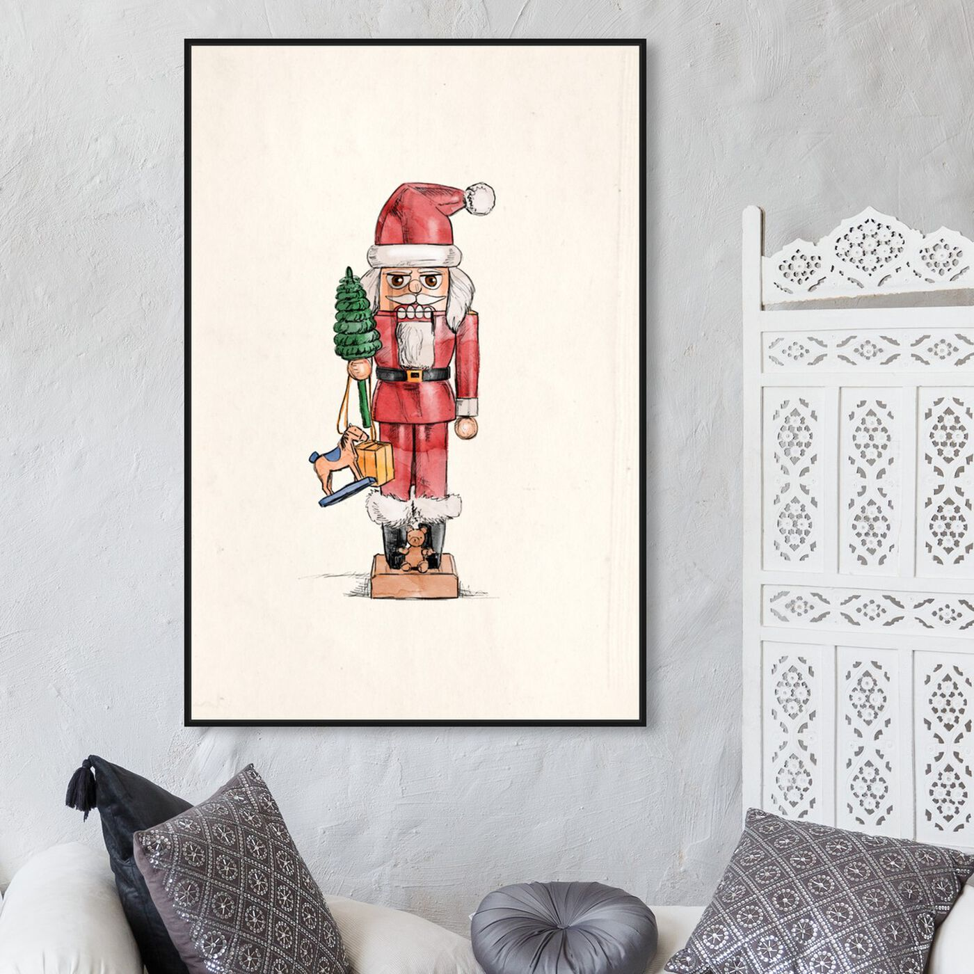 Hanging view of Nutcracker featuring holiday and seasonal and holidays art.