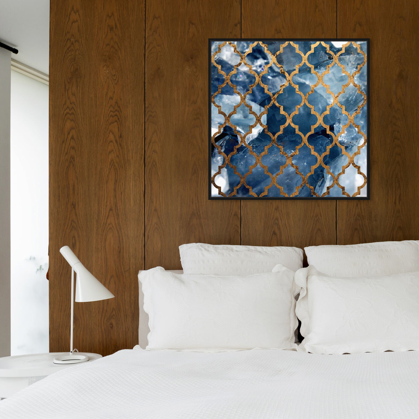 Hanging view of Arabesque Bronze featuring abstract and patterns art.