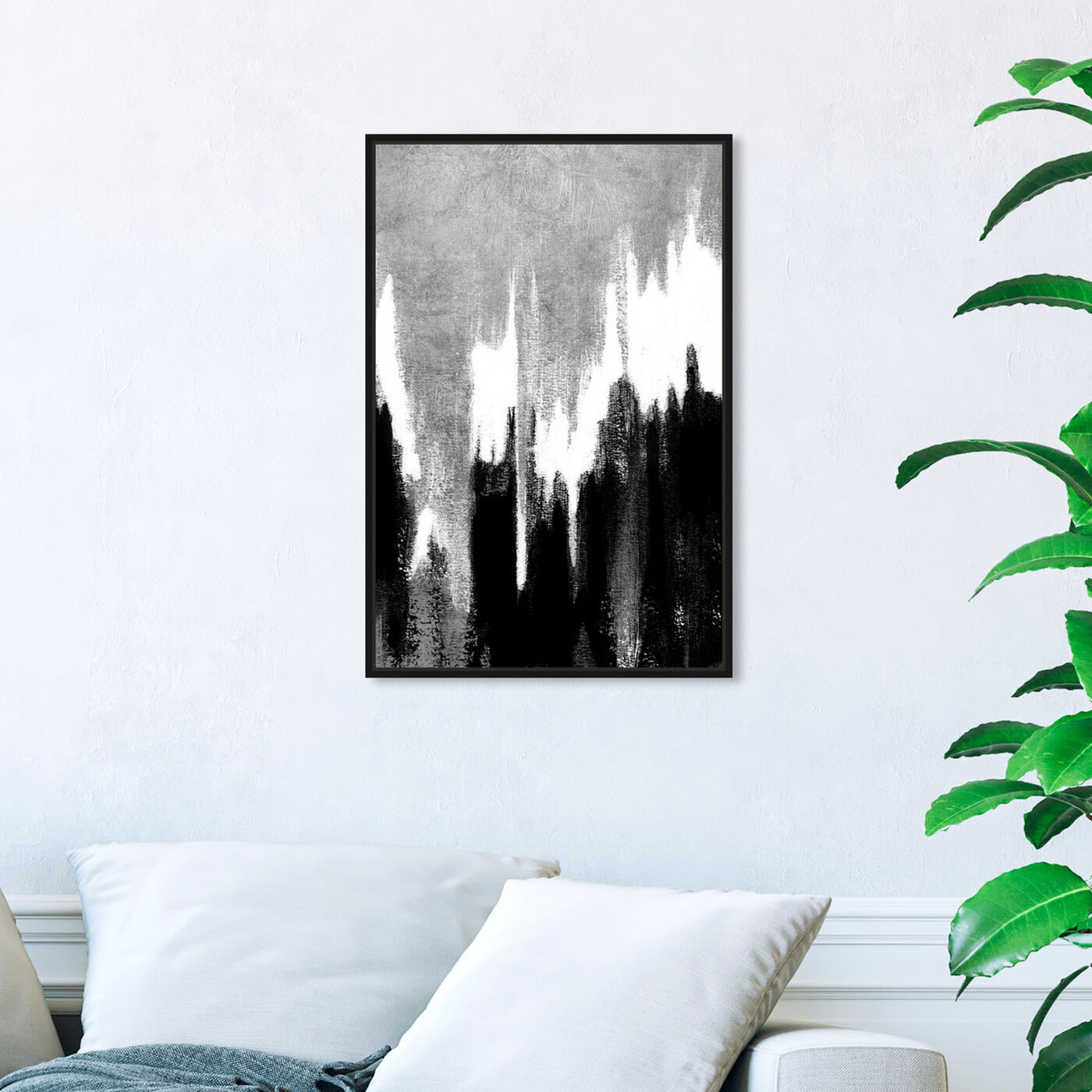Hanging view of Adore Adore Silver featuring abstract and paint art.