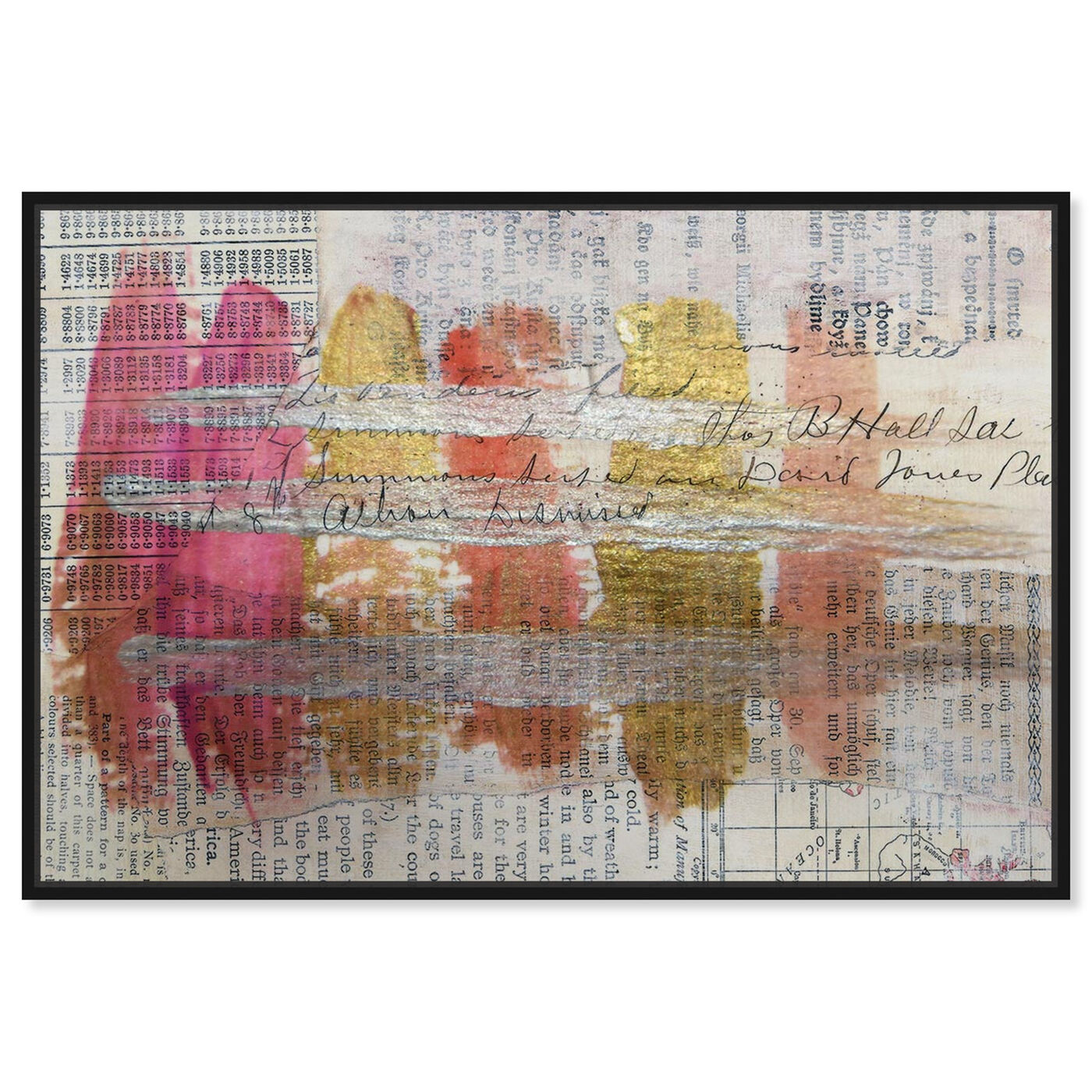Front view of Coral Lipstick - Signature Collection featuring abstract and watercolor art.