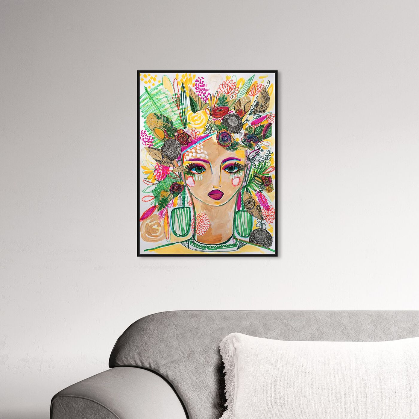 Hanging view of Spring Goddess featuring people and portraits and portraits art.