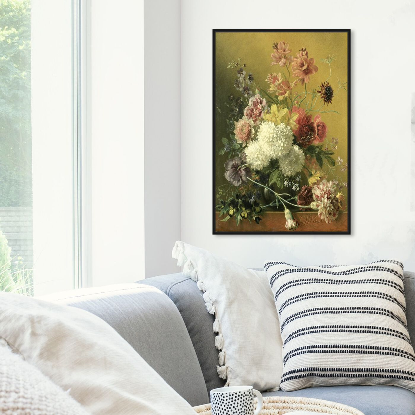 Hanging view of Flower Arrangement - The Art Cabinet featuring classic and figurative and french décor art.