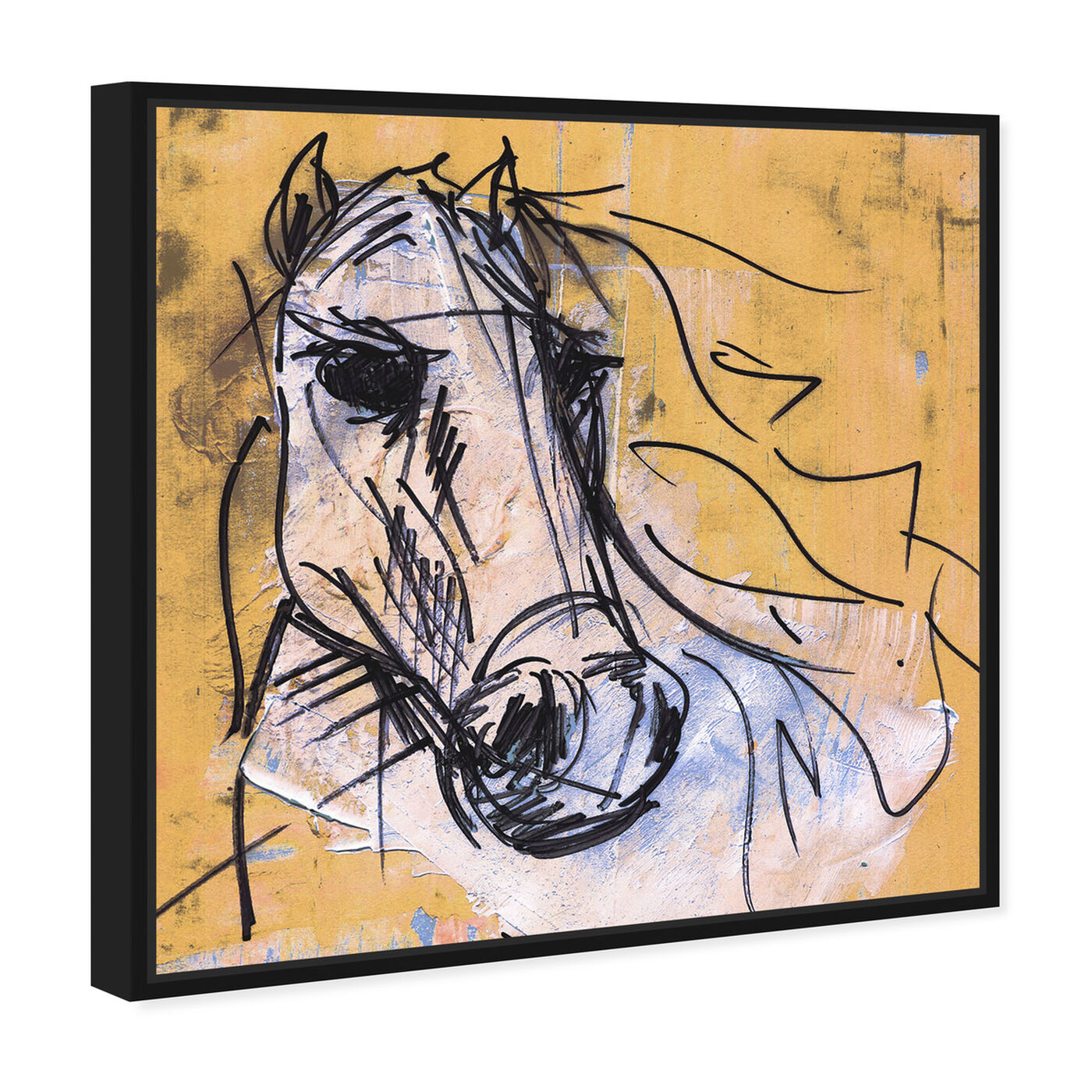 Angled view of Horse Study By Carson Kressley featuring animals and farm animals art.