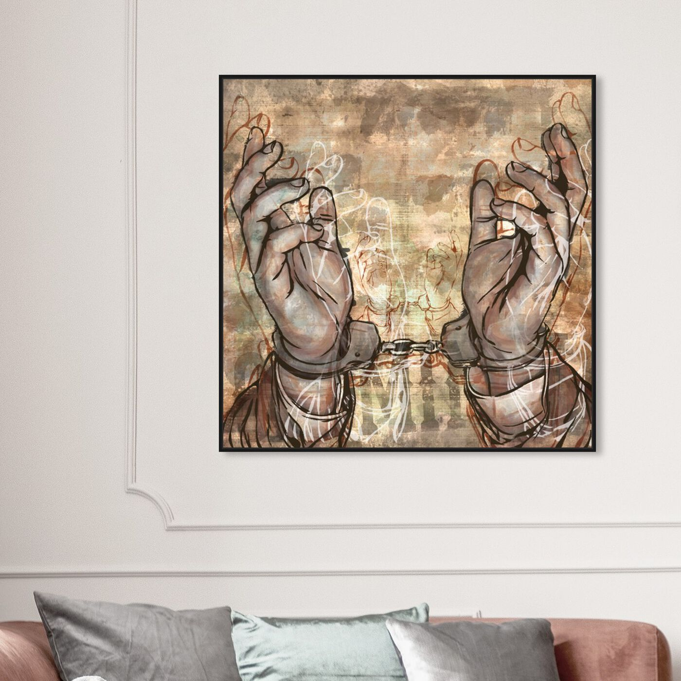 Hanging view of Criminal featuring people and portraits and professions art.