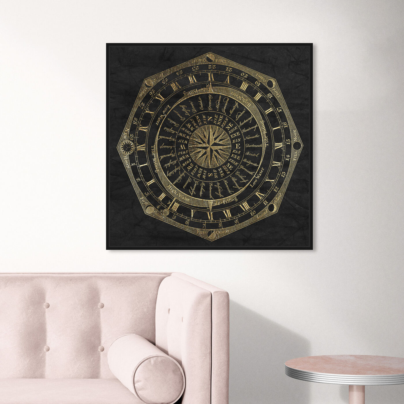 Hanging view of Sky Compass featuring astronomy and space and moons art.