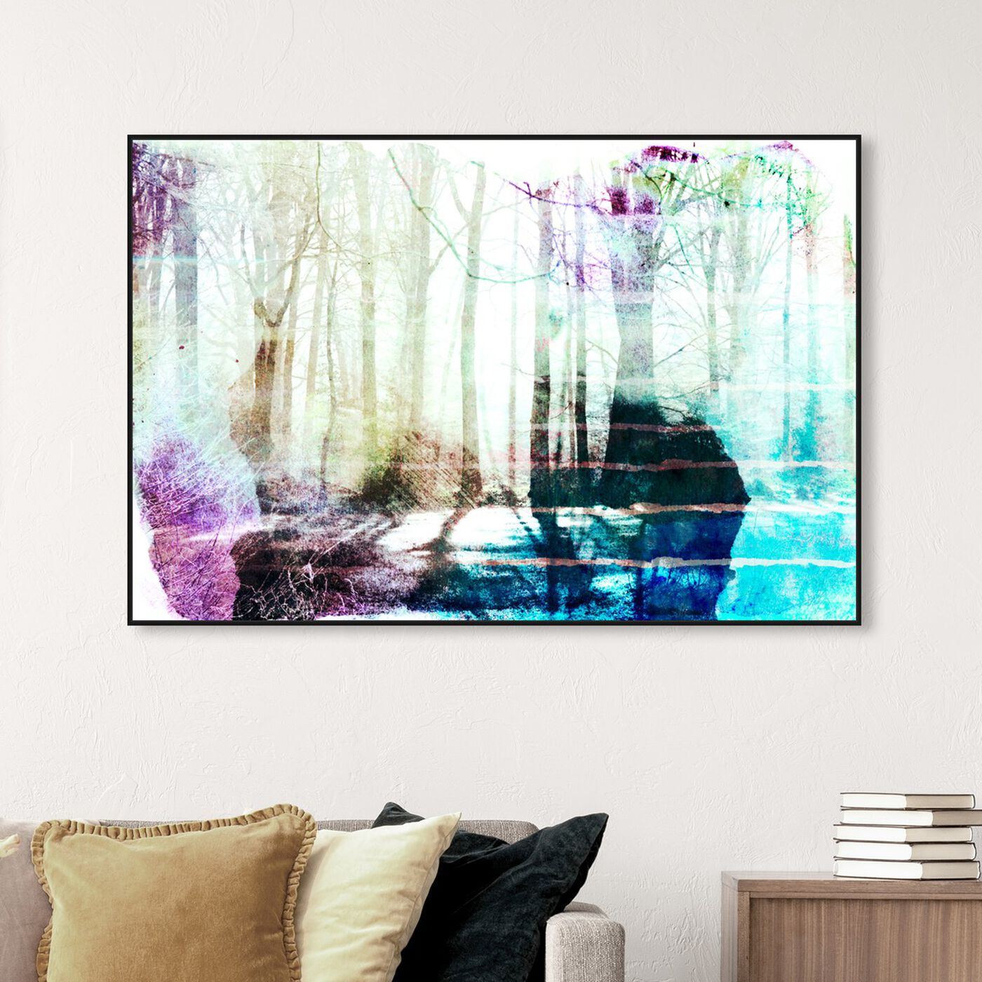Hanging view of Musk Forest featuring nature and landscape and forest landscapes art.