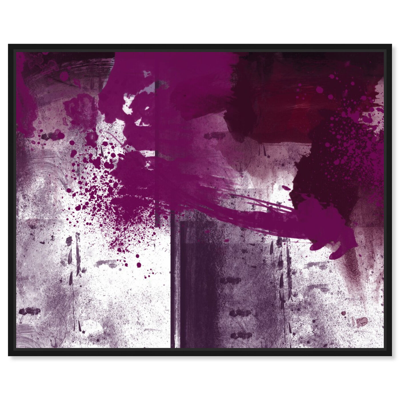 Front view of Violet Substance featuring abstract and paint art.