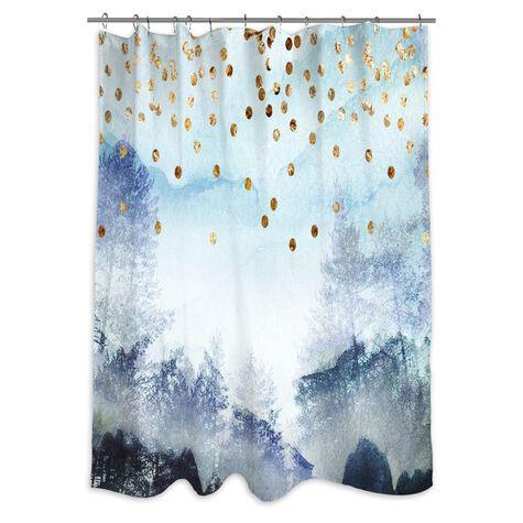 Summer Mist Collage Shower Curtain