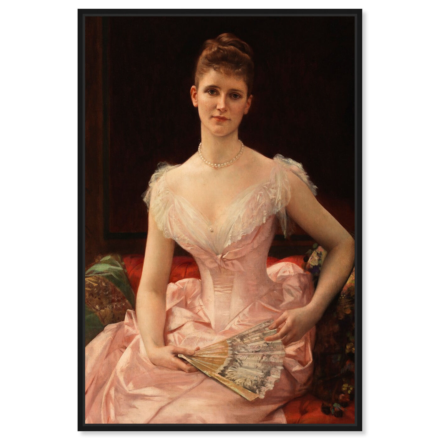 Front view of Cabanel - Olivia Peyton 1887 featuring classic and figurative and french décor art.