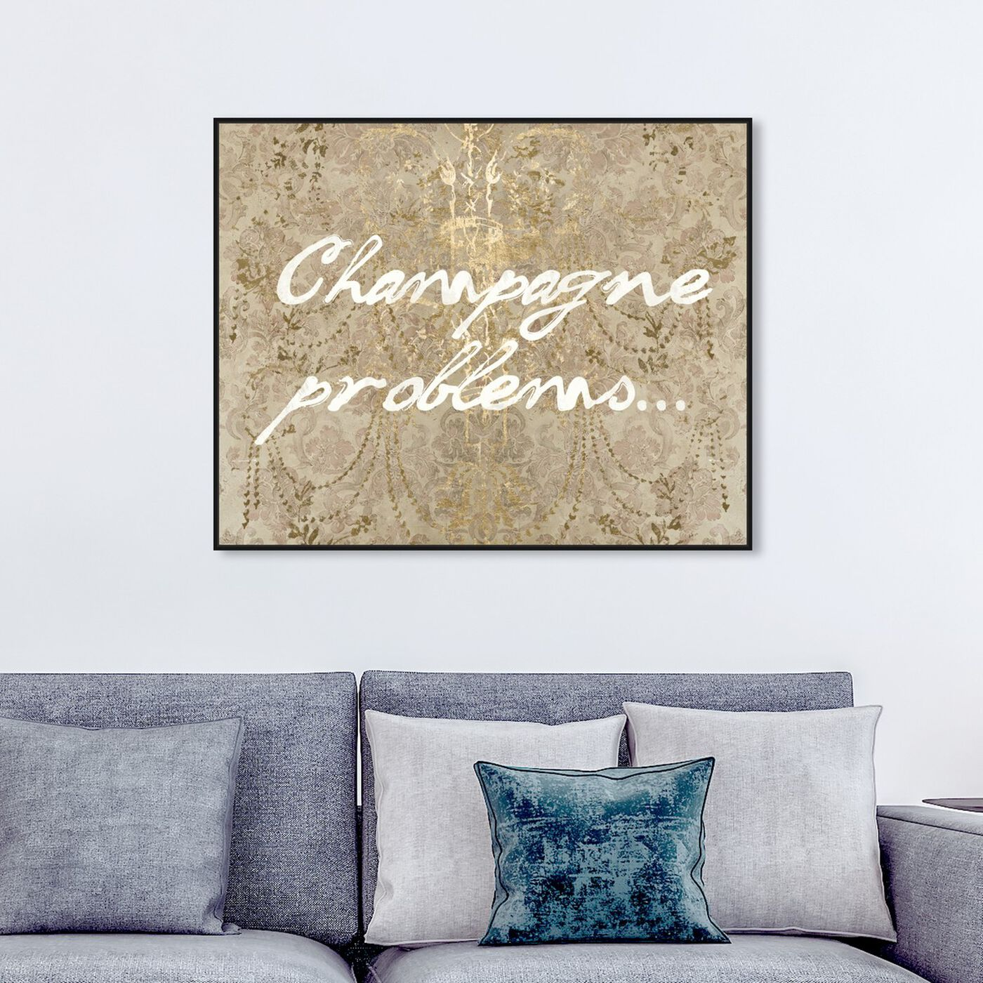 Hanging view of Champagne Issues featuring drinks and spirits and champagne art.
