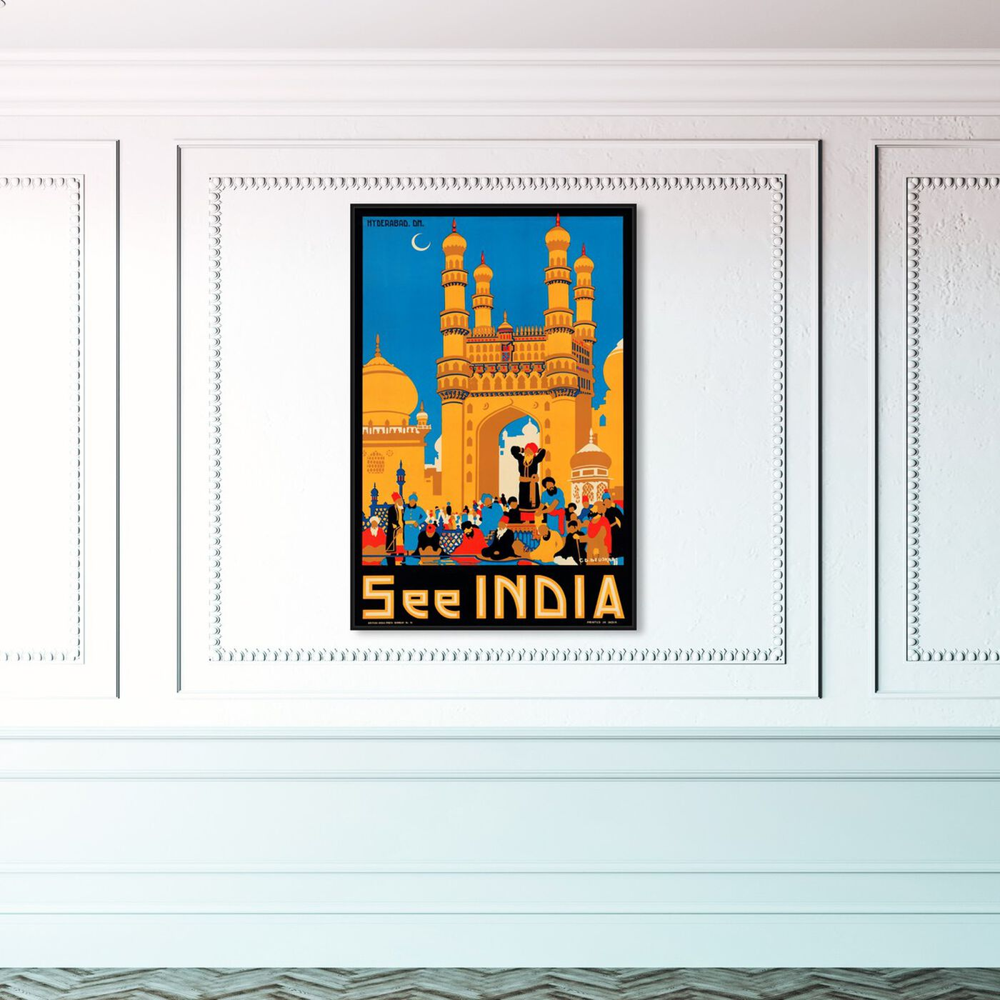 Hanging view of See India featuring world and countries and asian countries art.