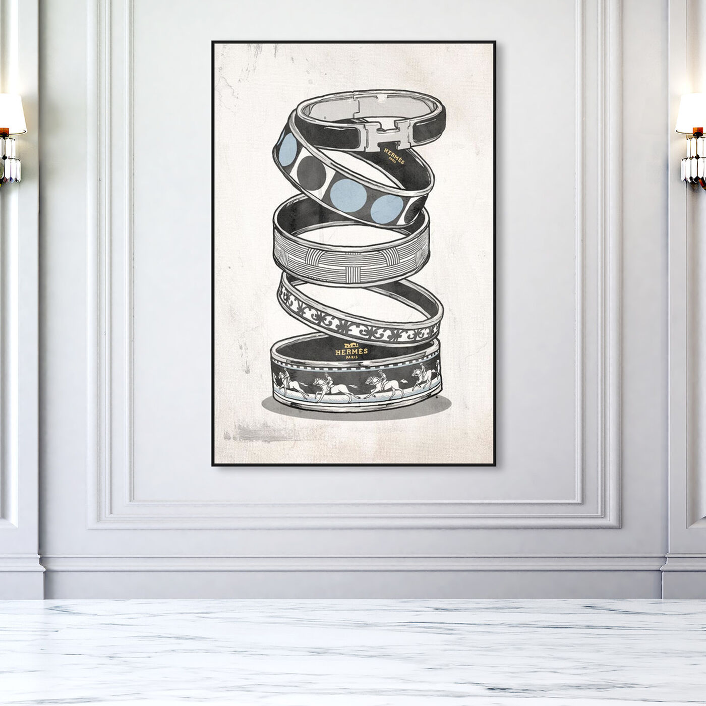 Hanging view of Arm Candy Silver featuring fashion and glam and jewelry art.